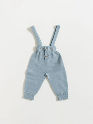 TROUSERS WITH STRAPS / DUSTY BLUE | Grace Baby and Child