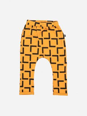 Calças Laranja Estampado Geométrico | YAY
