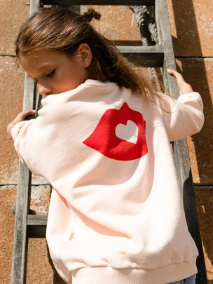 Sweatshirt Rosa Pastel Unissexo | Piupiuchick