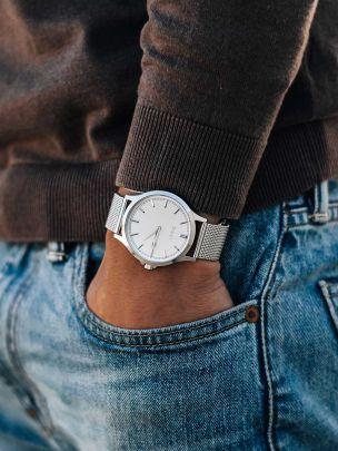 Relógio Branco Positano Mesh | Dicci