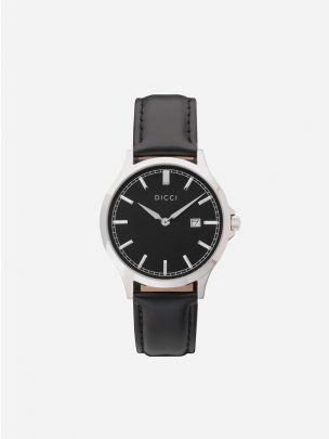 Relógio minimalista pulseira preta Dicci