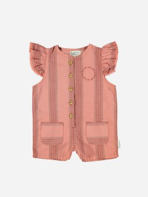 Short Jumpsuit Pink & Multicolor Stripes