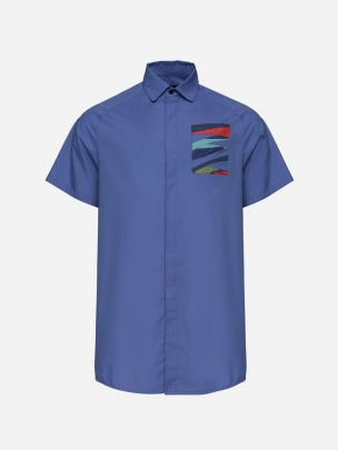 Camisa Azul Relaxed