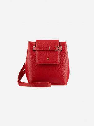 Mala Bucket Vermelha & Rosa | Maria Maleta