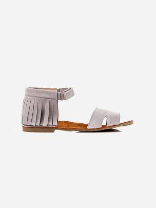 Sandália Cinzenta Franjas com Velcro | Pikitri