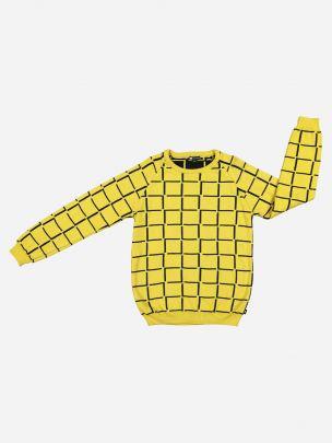 Camisola Amarela Padrão Geométrico   YAY
