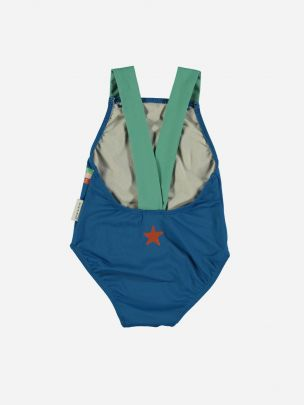 Baby Swimsuit with Large Straps Wave