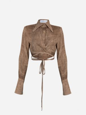 Toffee Cropped Shirt