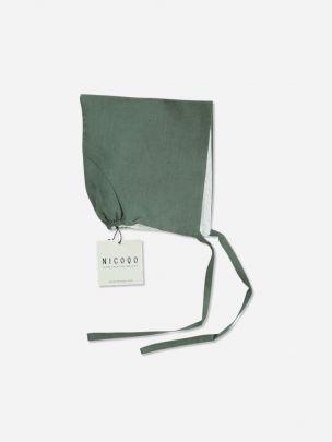 Moss Linen Pixie Bonnet | Nicoqo