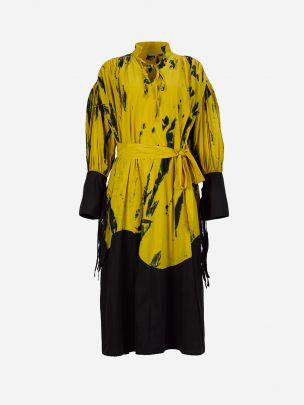 Vestido Amarelo com Estampado Meam