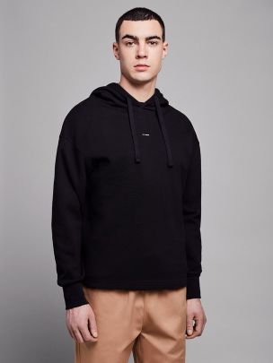 Sweatshirt com Capuz Preta | Wetheknot