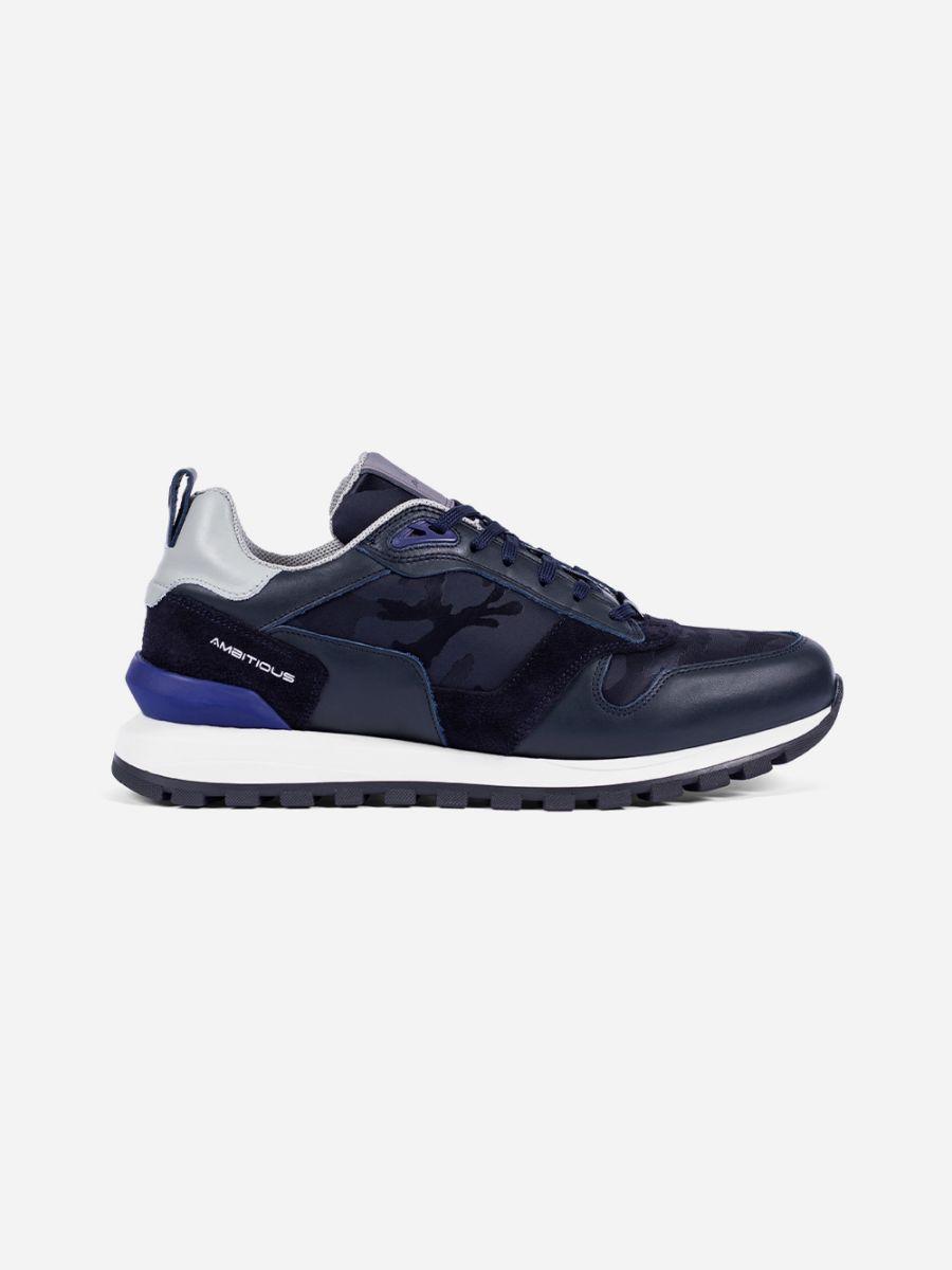 Blue Navy Suede Sneakers