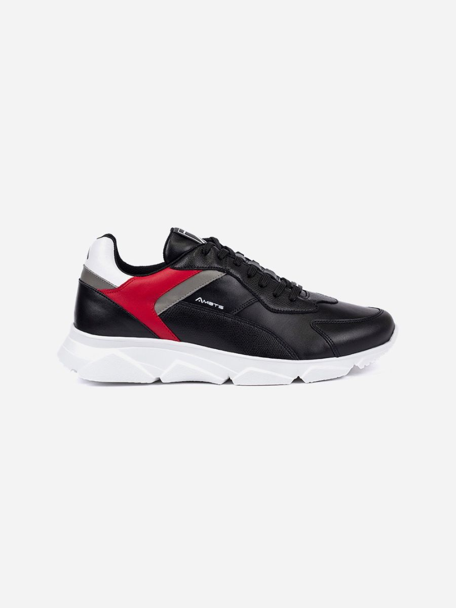 Black Sneakers Red Detail