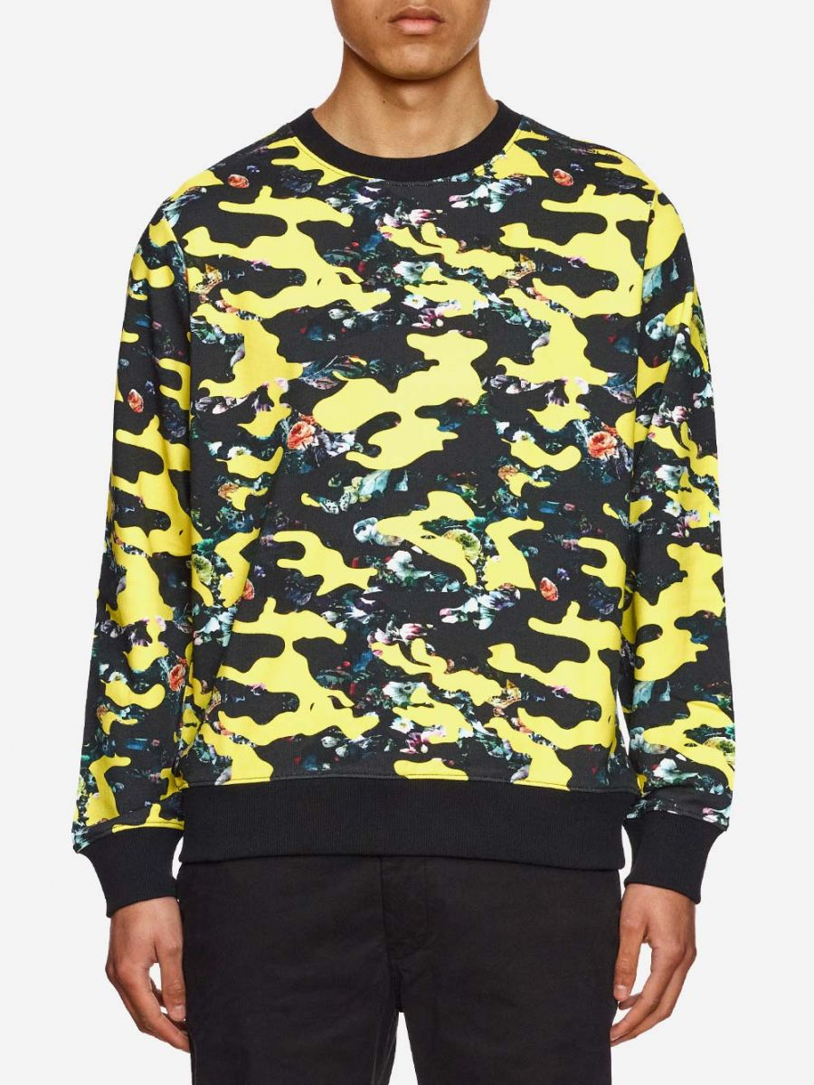 Yellow and Black Camouflaged Sweater