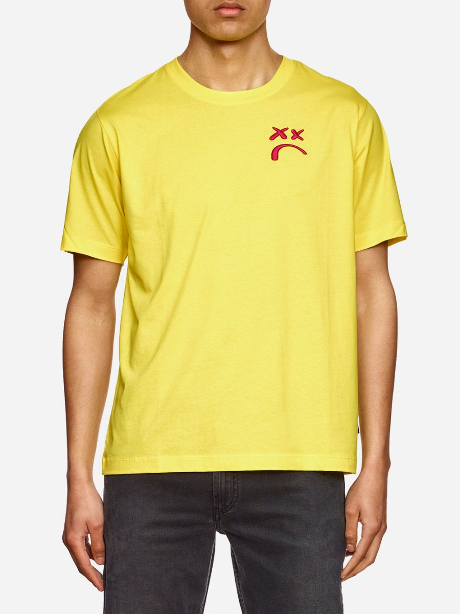 Yellow T-Shirt With Embroidery