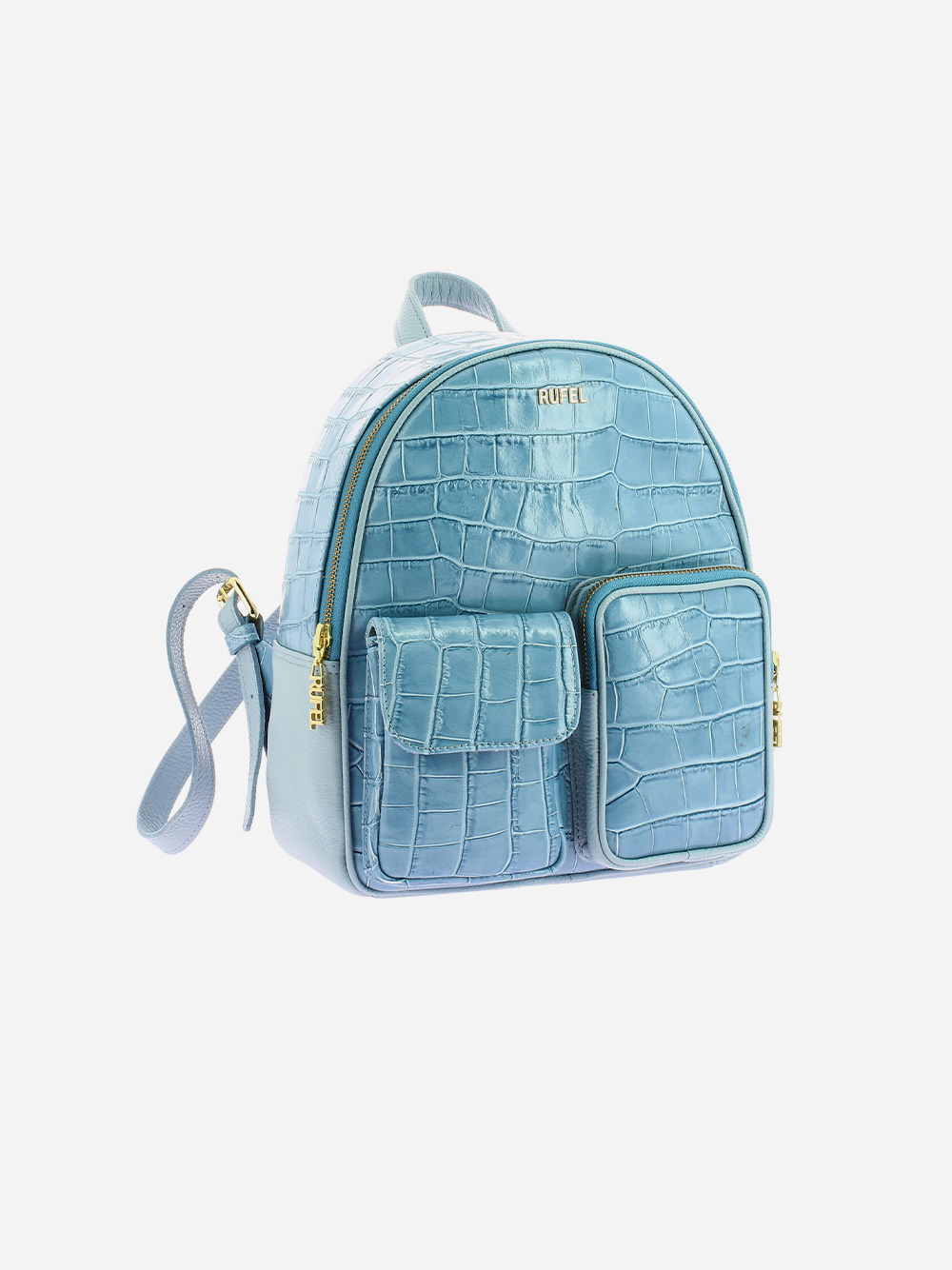 Blue Croco Backpack