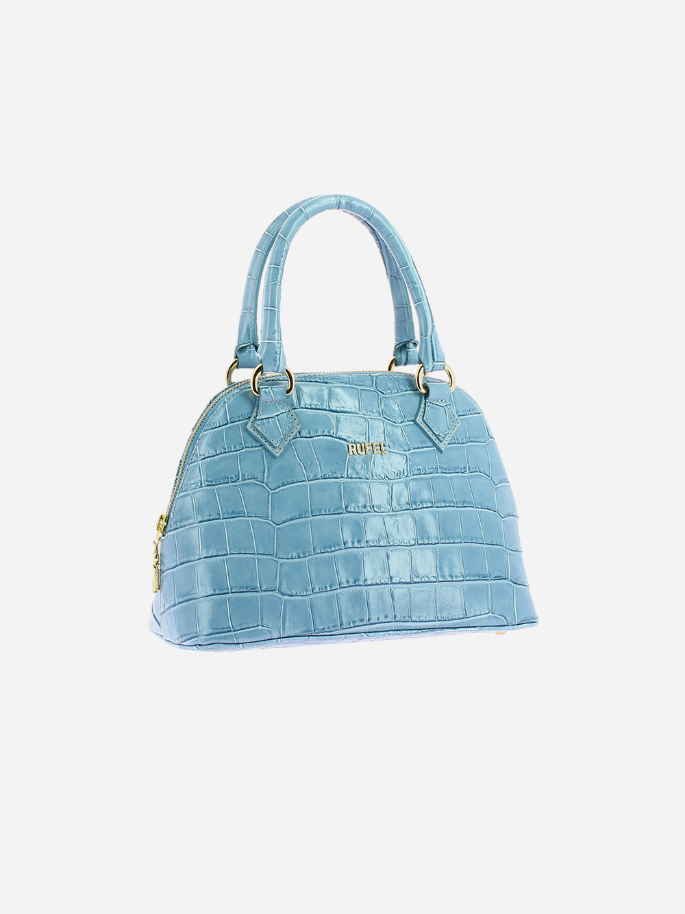 Blue Croco Handbag
