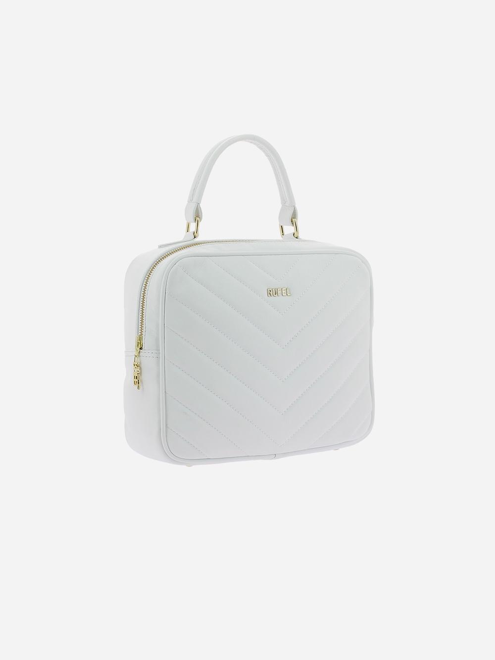 White Padded Handbag
