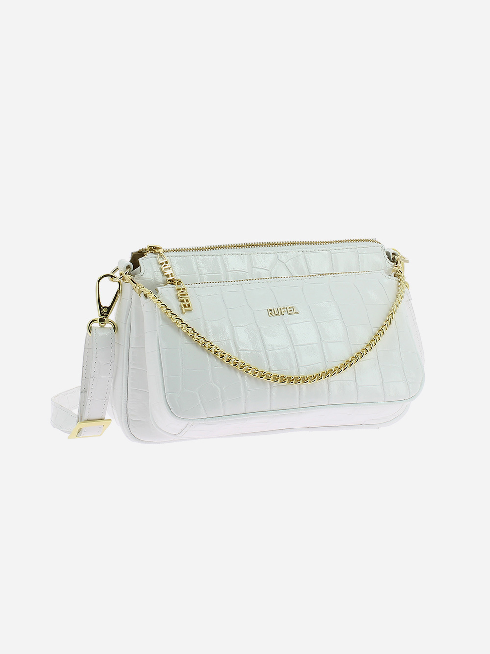 White Croco Crossbody Bag