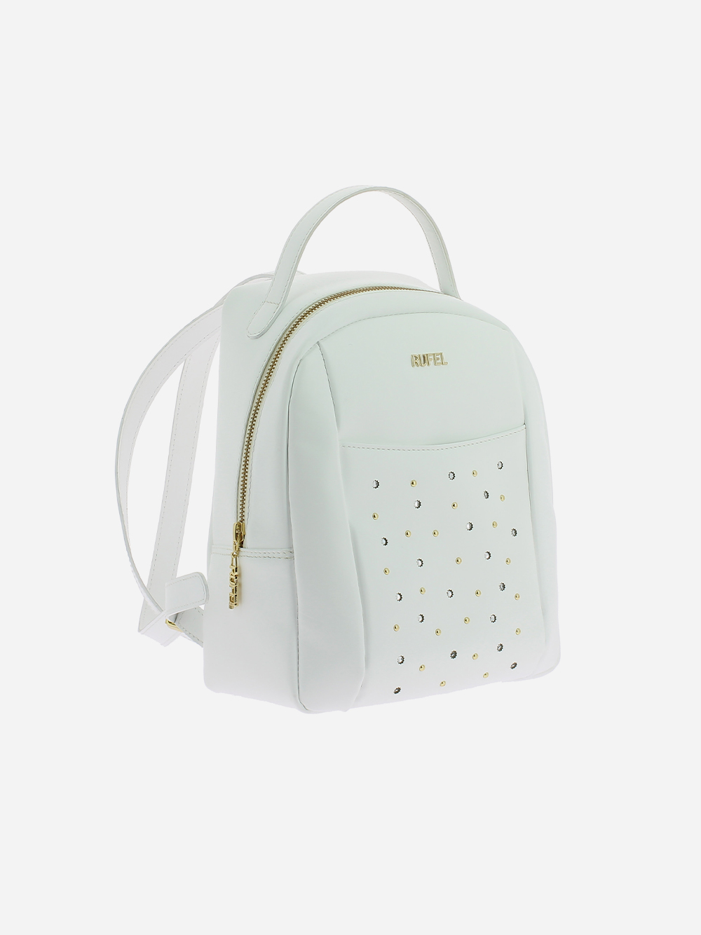 White Studded Backpack