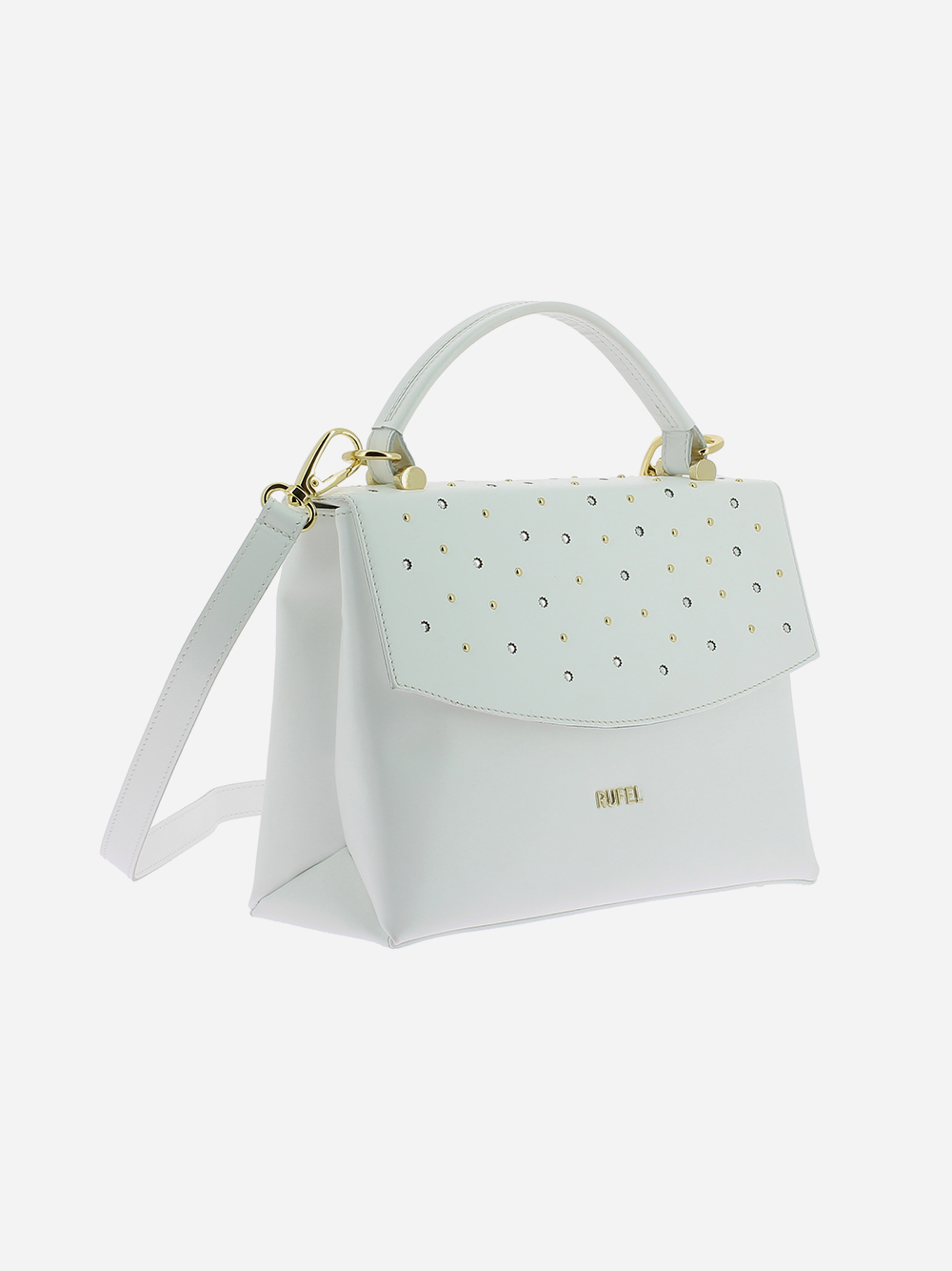 White Studded Handbag