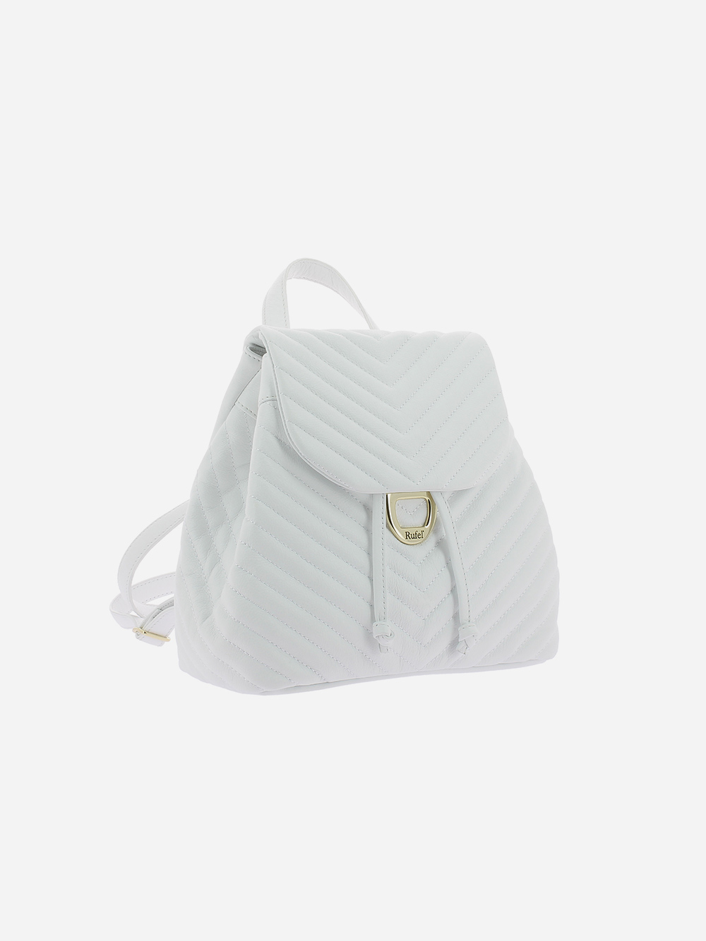 White Padded Backpack