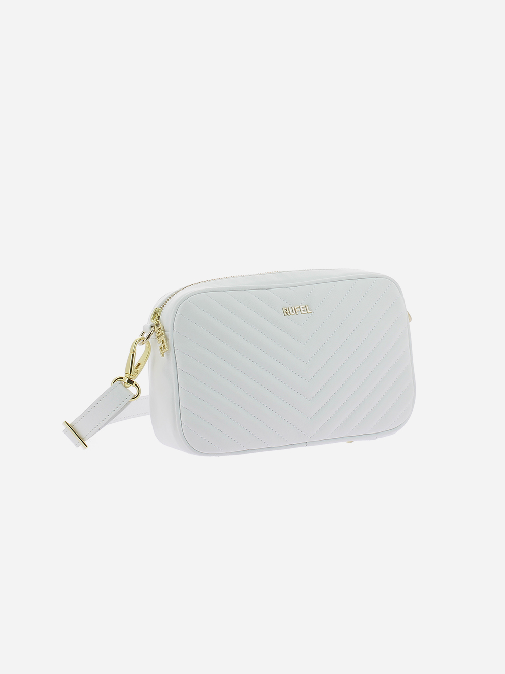 White Padded Crossbody Bag