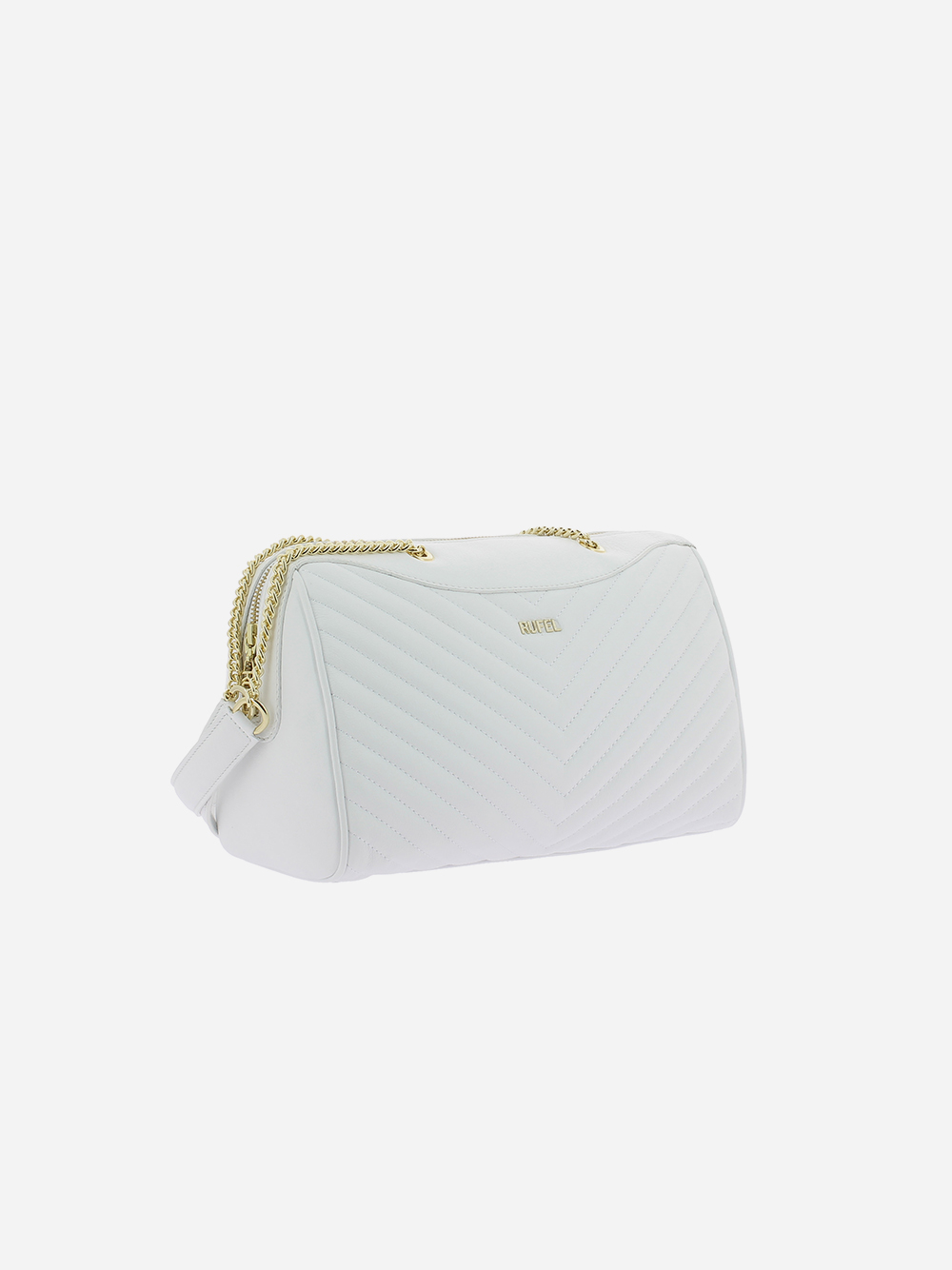 White Padded Shoulder Bag