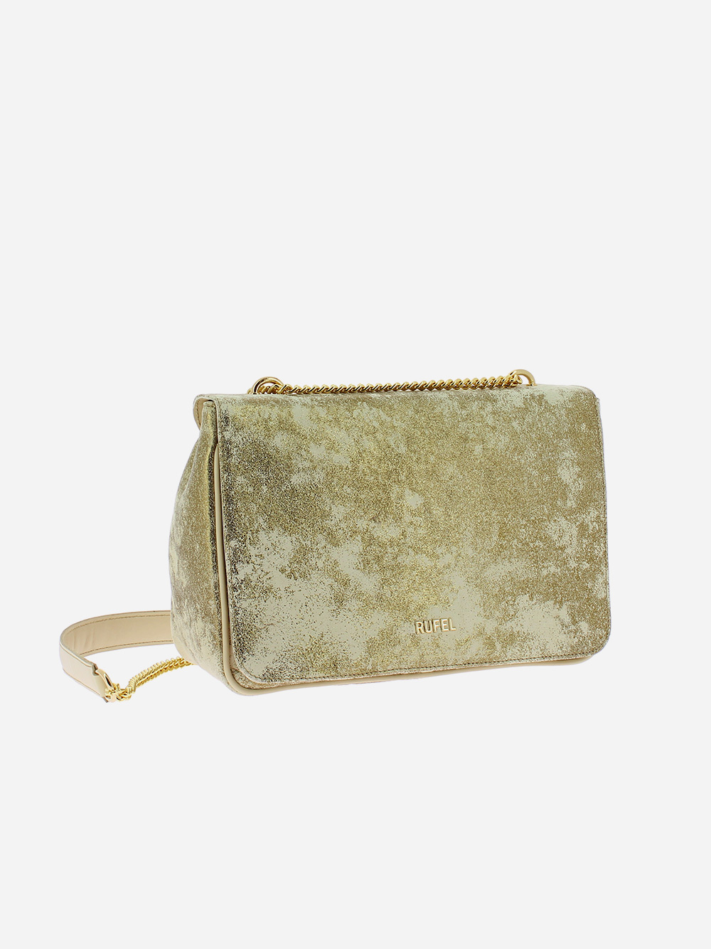 Beige Golden Shoulder Bag