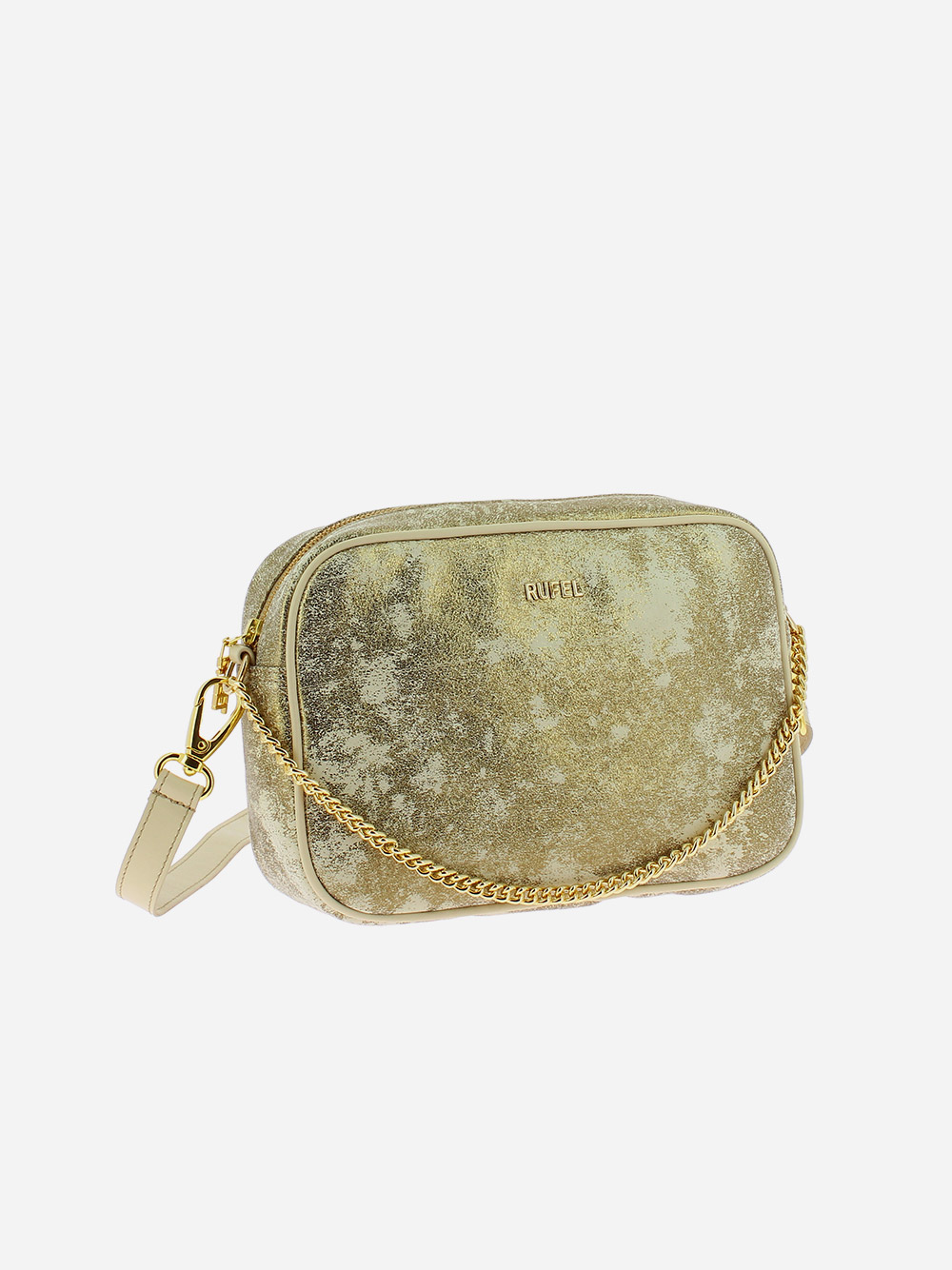 Beige Golden Crossbody Bag