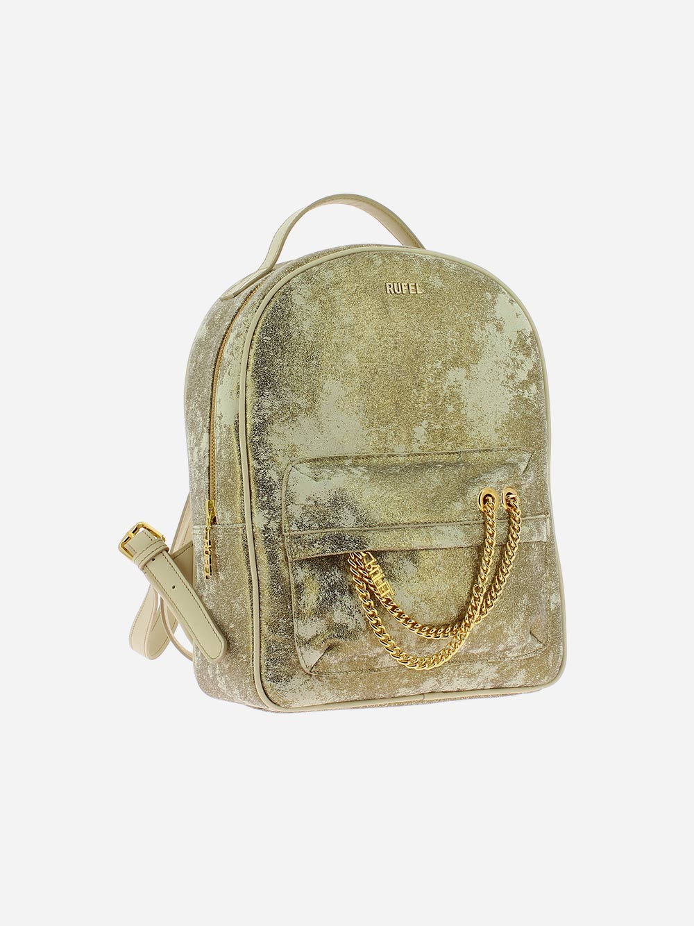Beige Golden Backpack