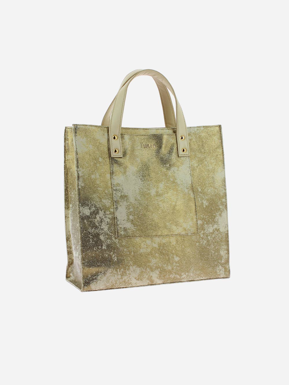 Beige Golden Shopper Bag