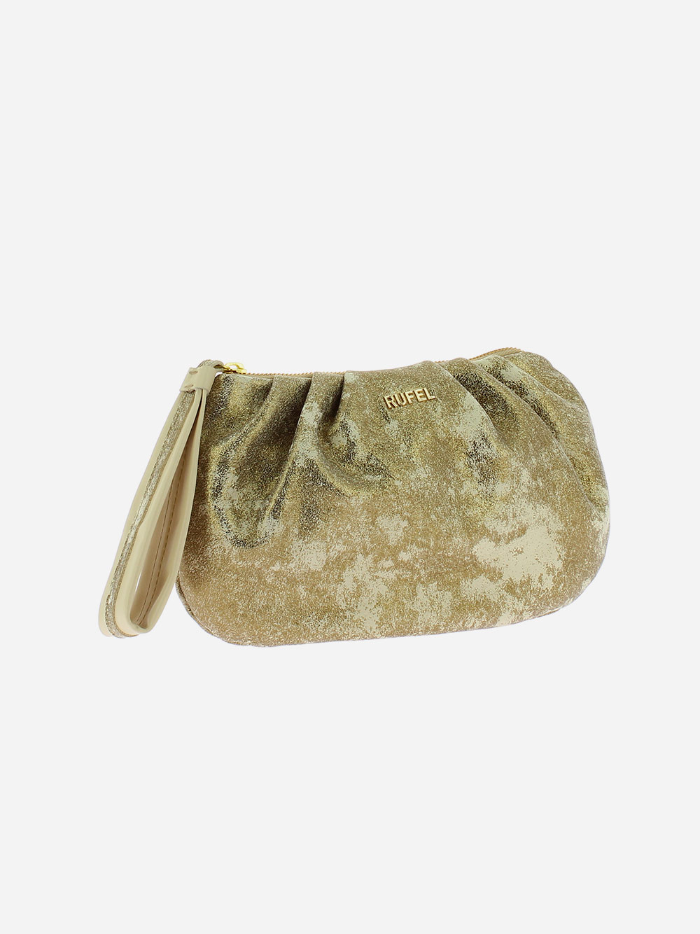 Beige Golden Clutch