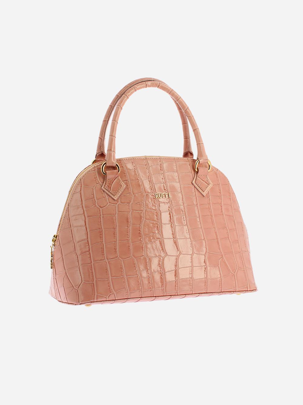 Nude Croco Handbag