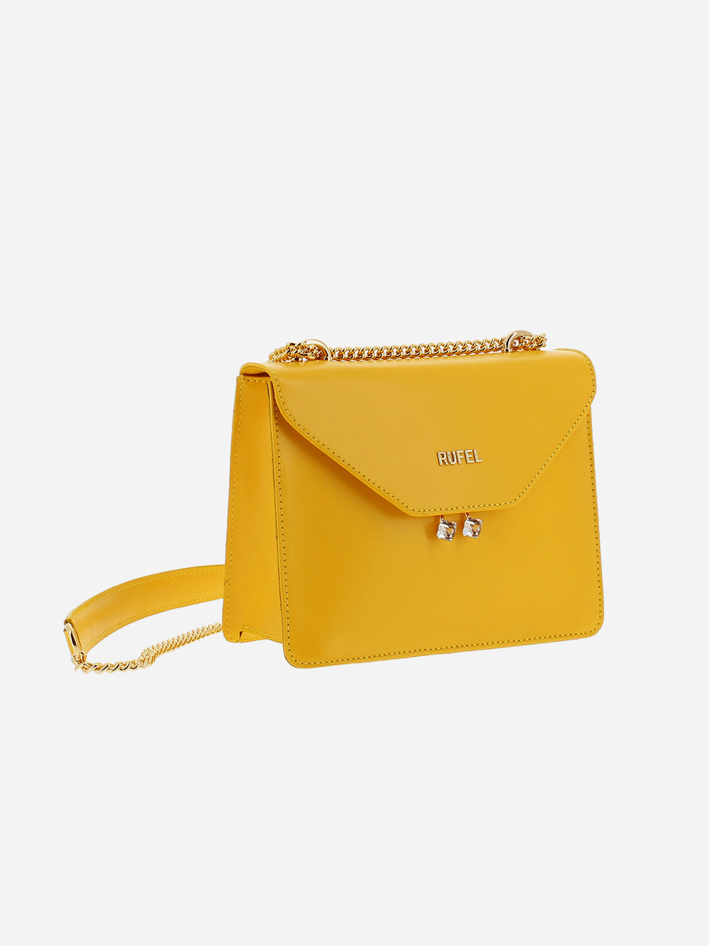 Yellow PU Shoulder Bag