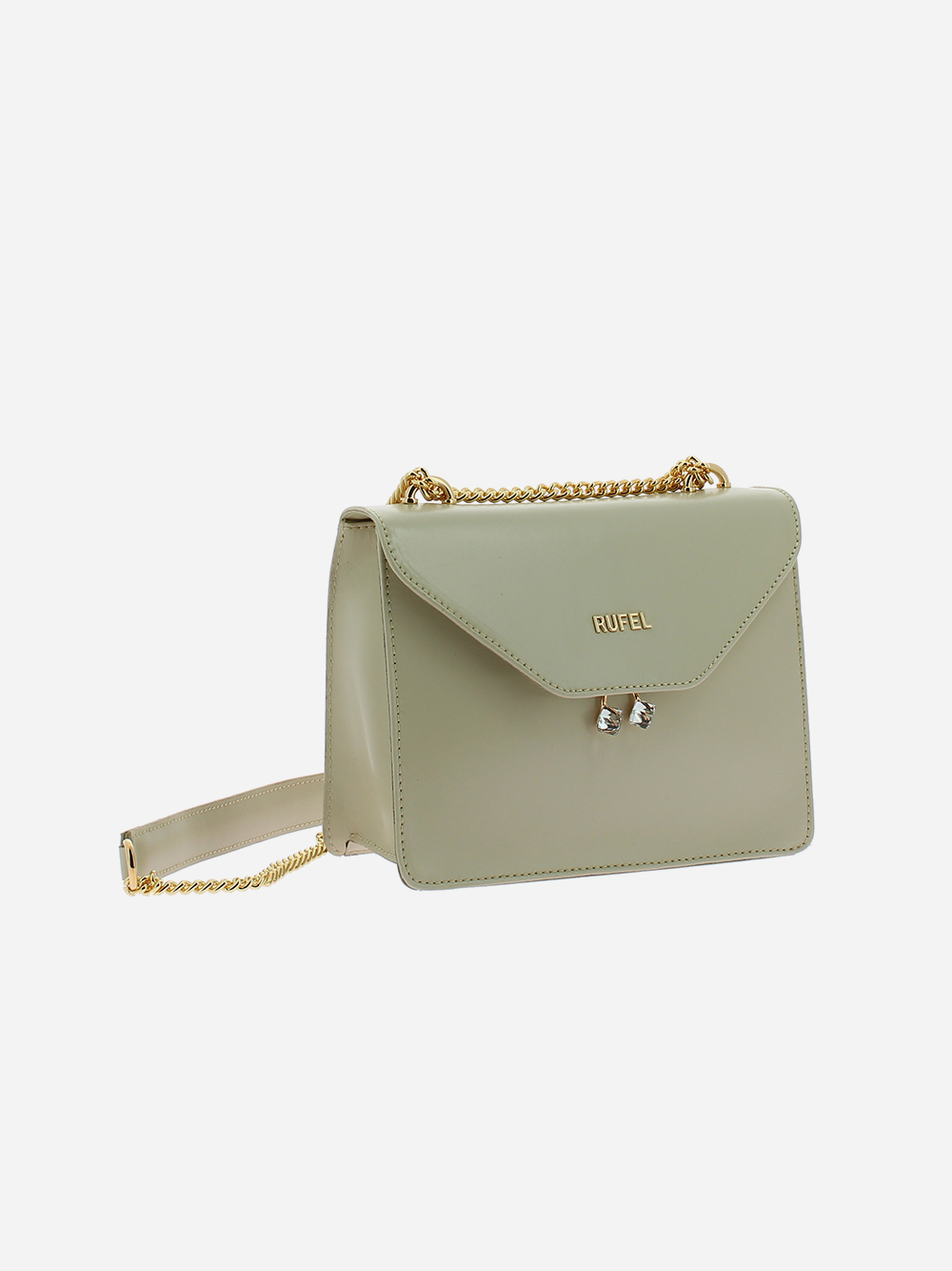 Beige PU Shoulder Bag