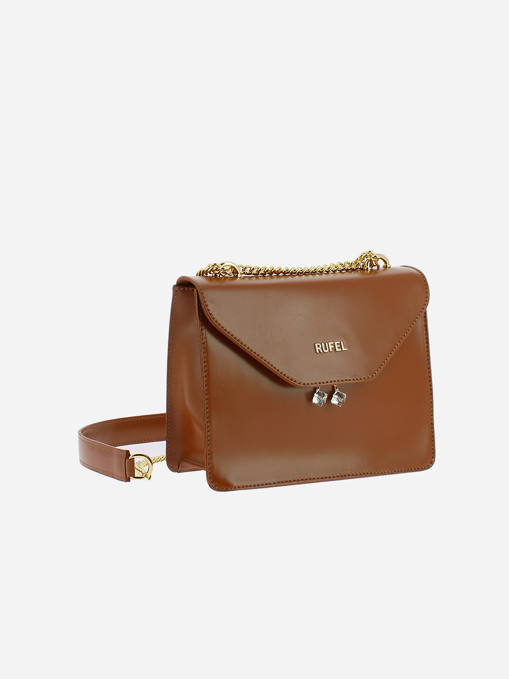 Camel PU Shoulder Bag