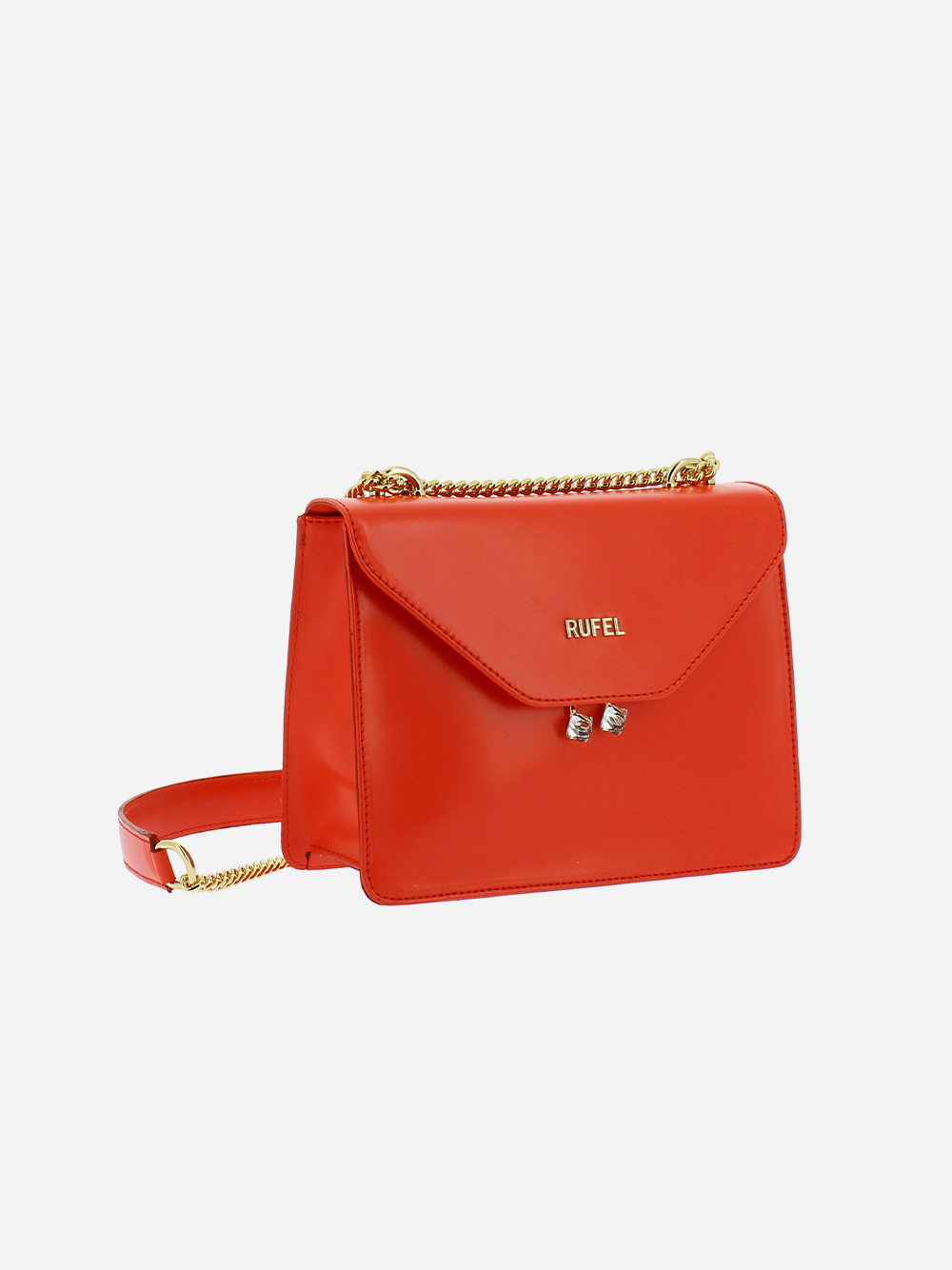 Red PU Shoulder Bag