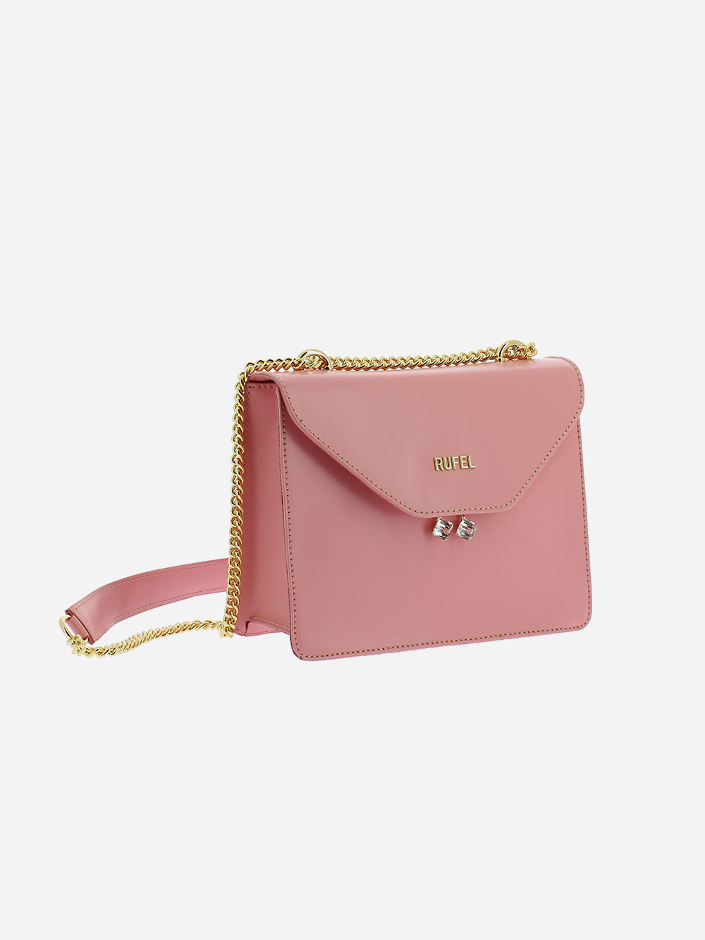 Pink PU Shoulder Bag