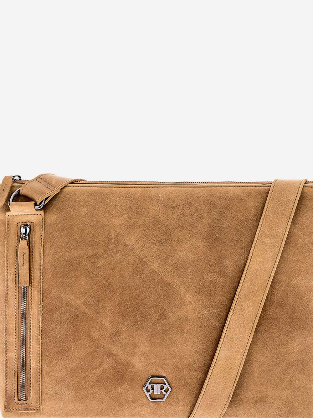 Camel Leather Crossbody