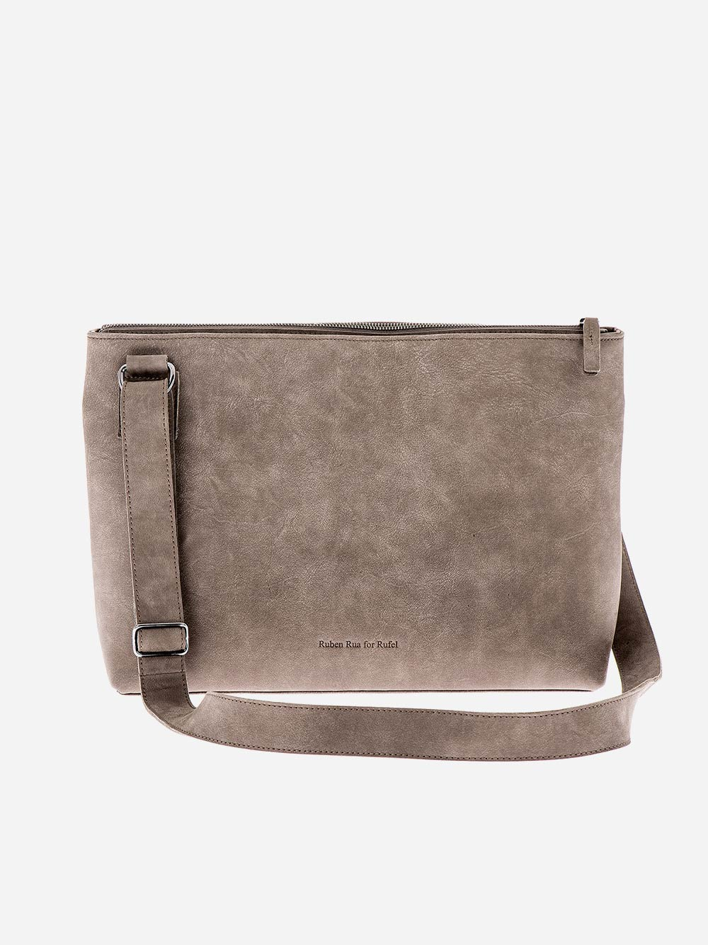 Grey Leather Crossbody