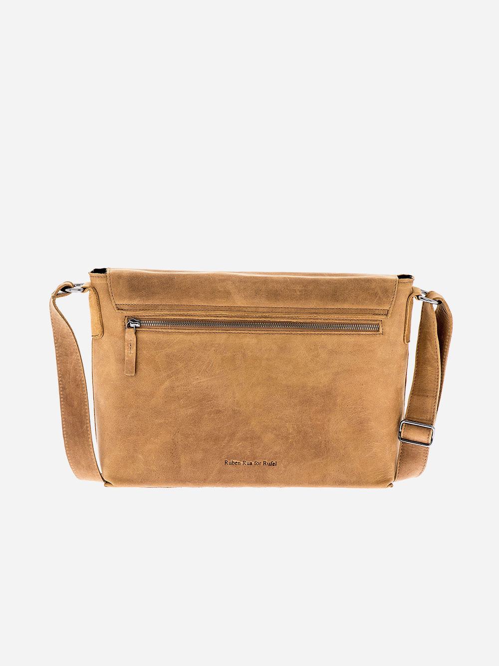 Camel Rectangular Crossbody