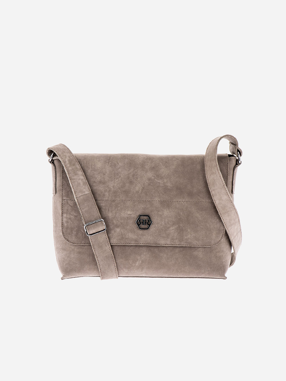 Grey Rectangular Crossbody