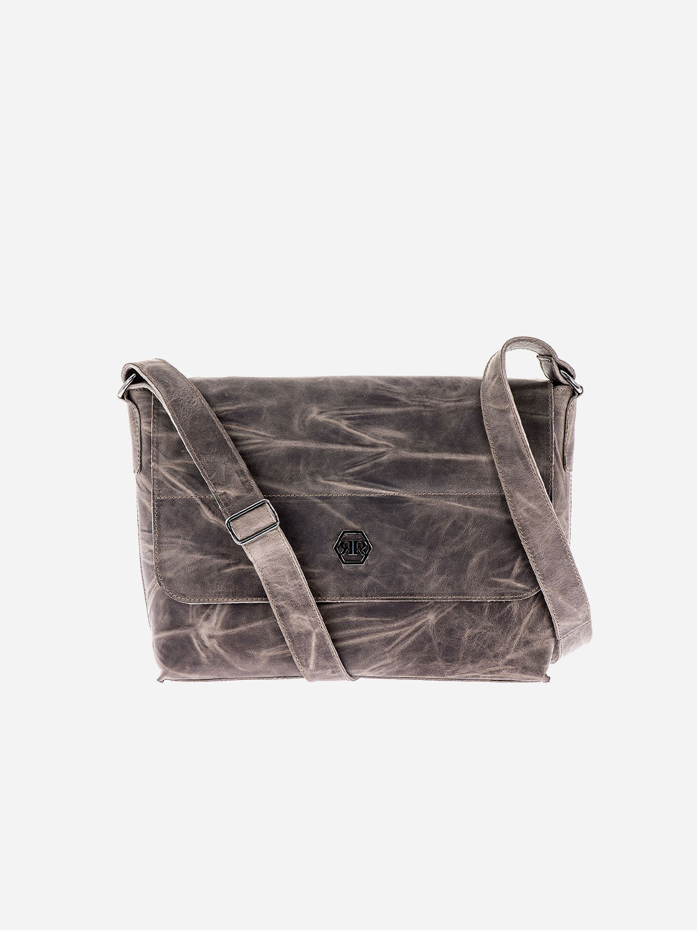 Taupe Rectangular Crossbody