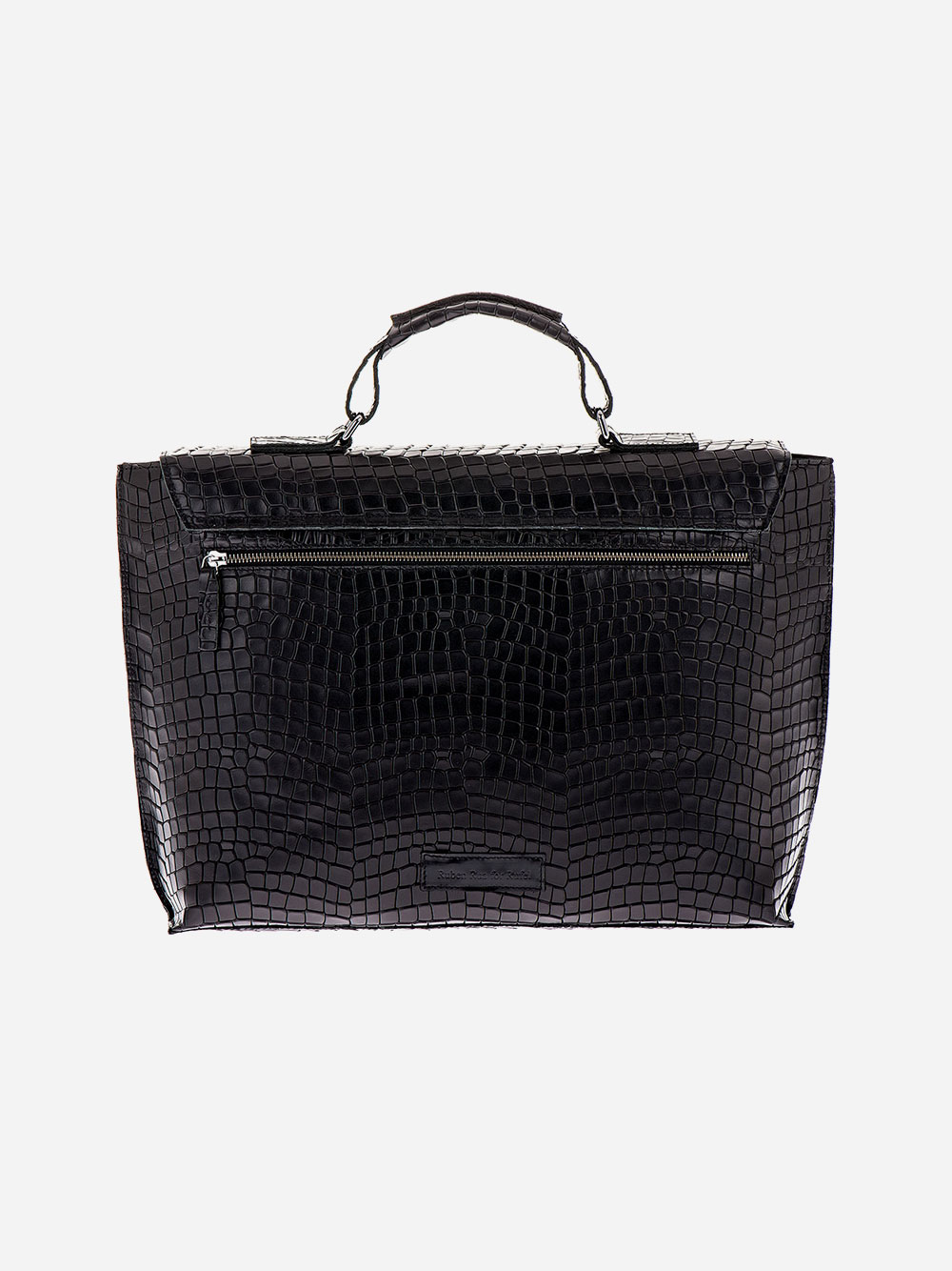Black Croc Effect Briefcase