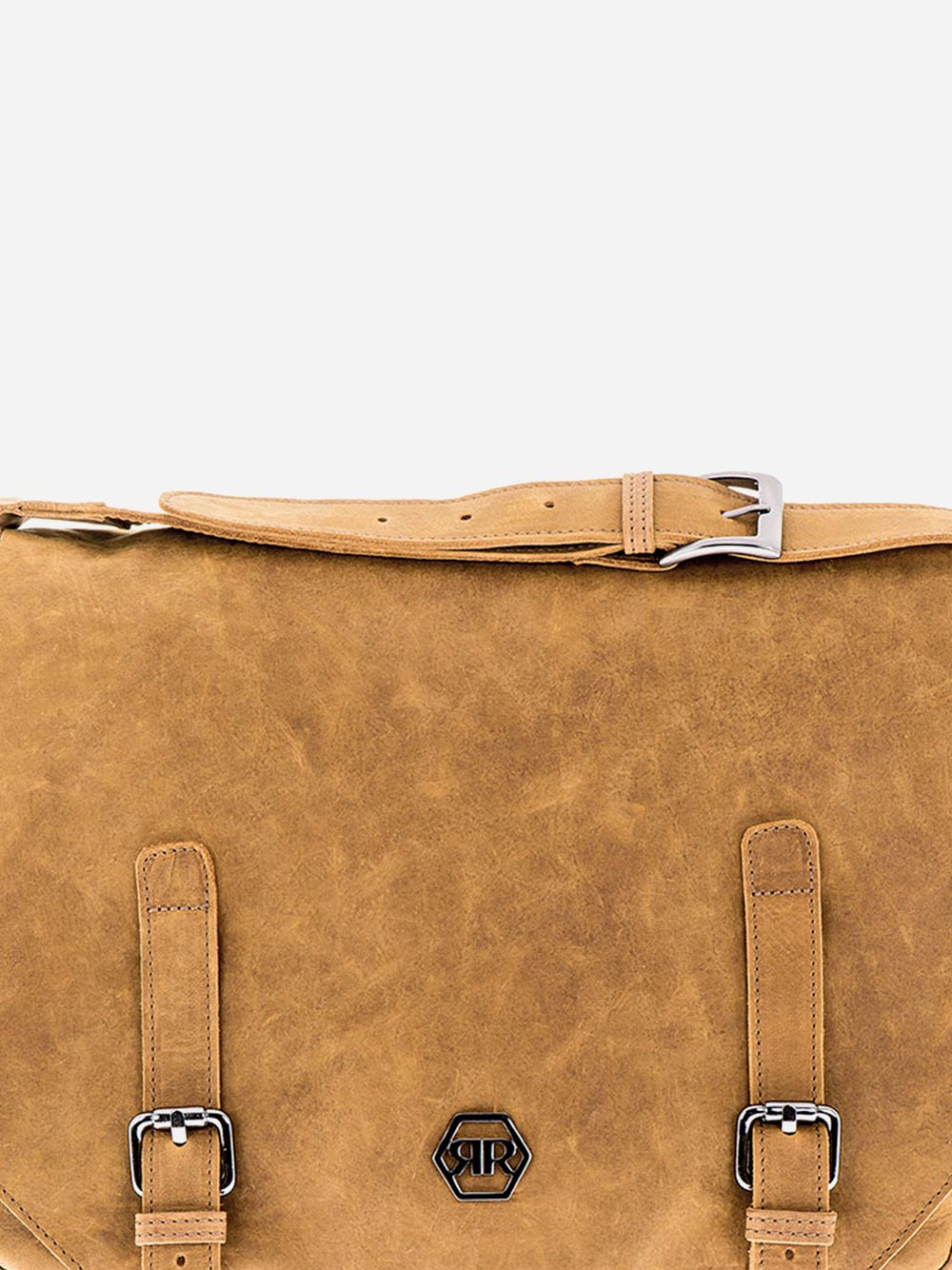 Rustic Camel Messenger Bag
