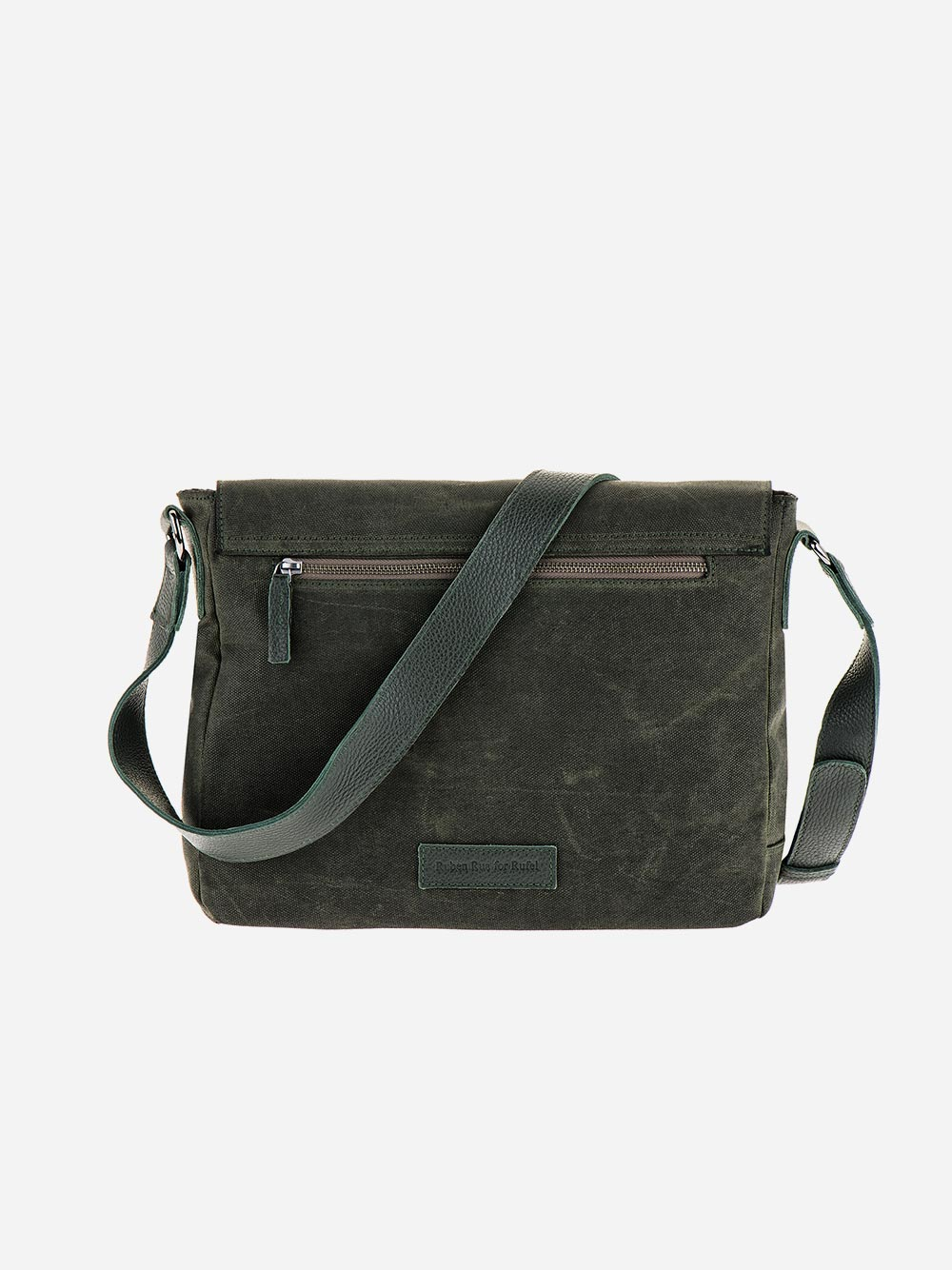 Green Nylon Messenger Bag