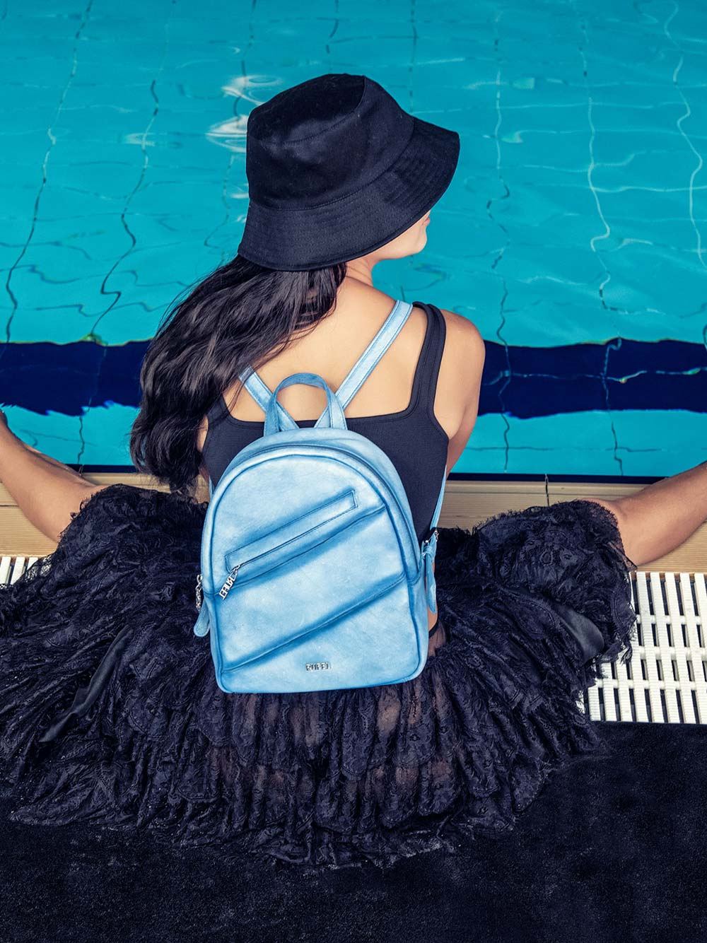 Blue Vintage Backpack