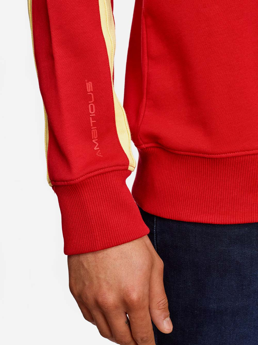 Red Sweater with Stripes
