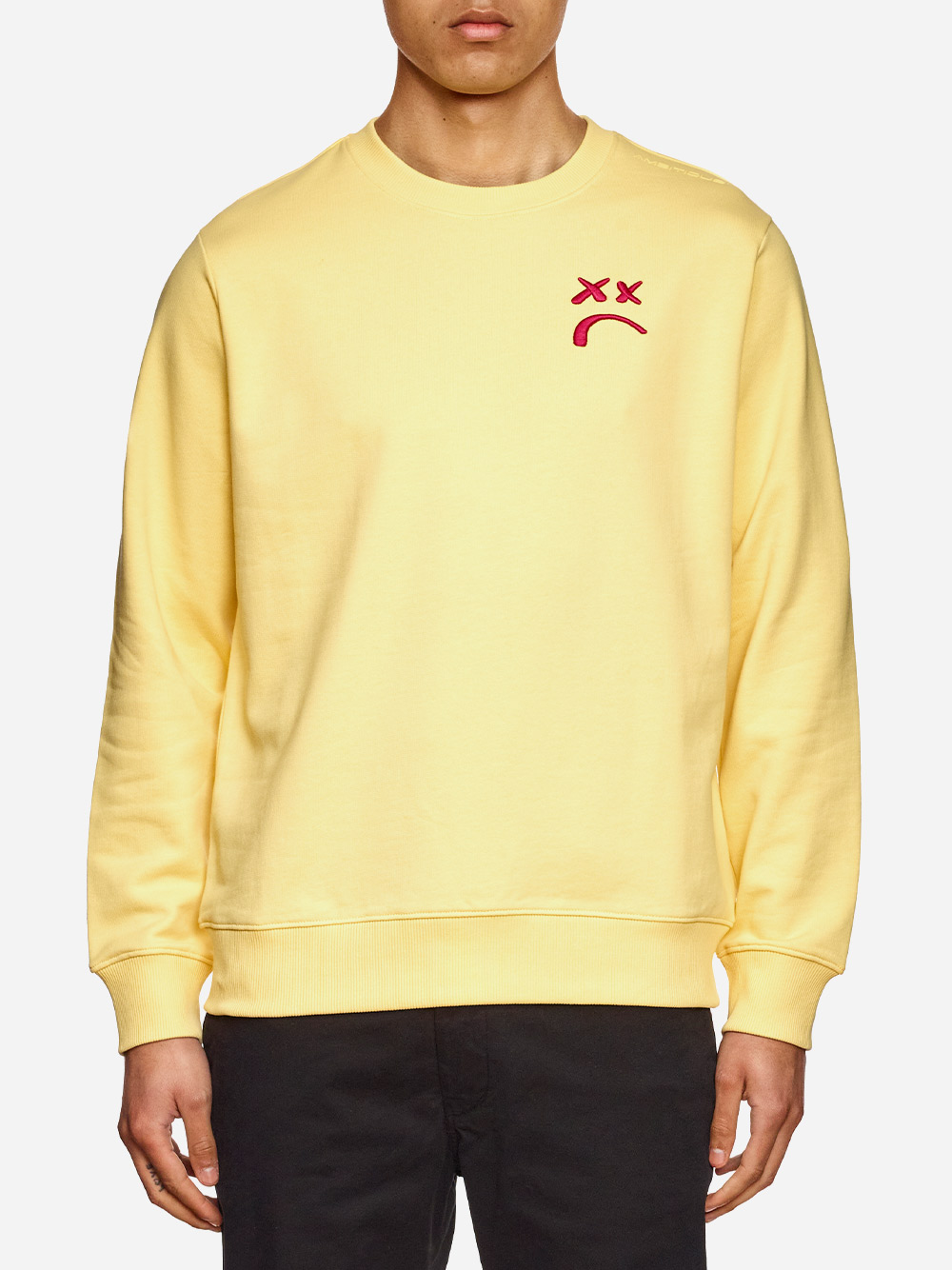 Yellow Embroidered Sweater